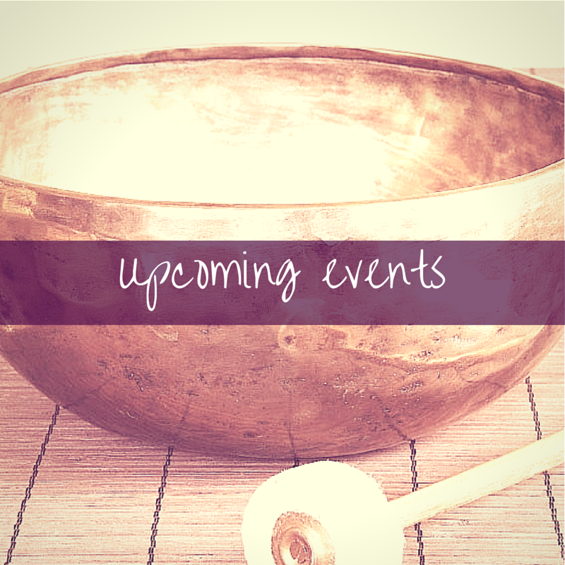 Upcoming events - home page